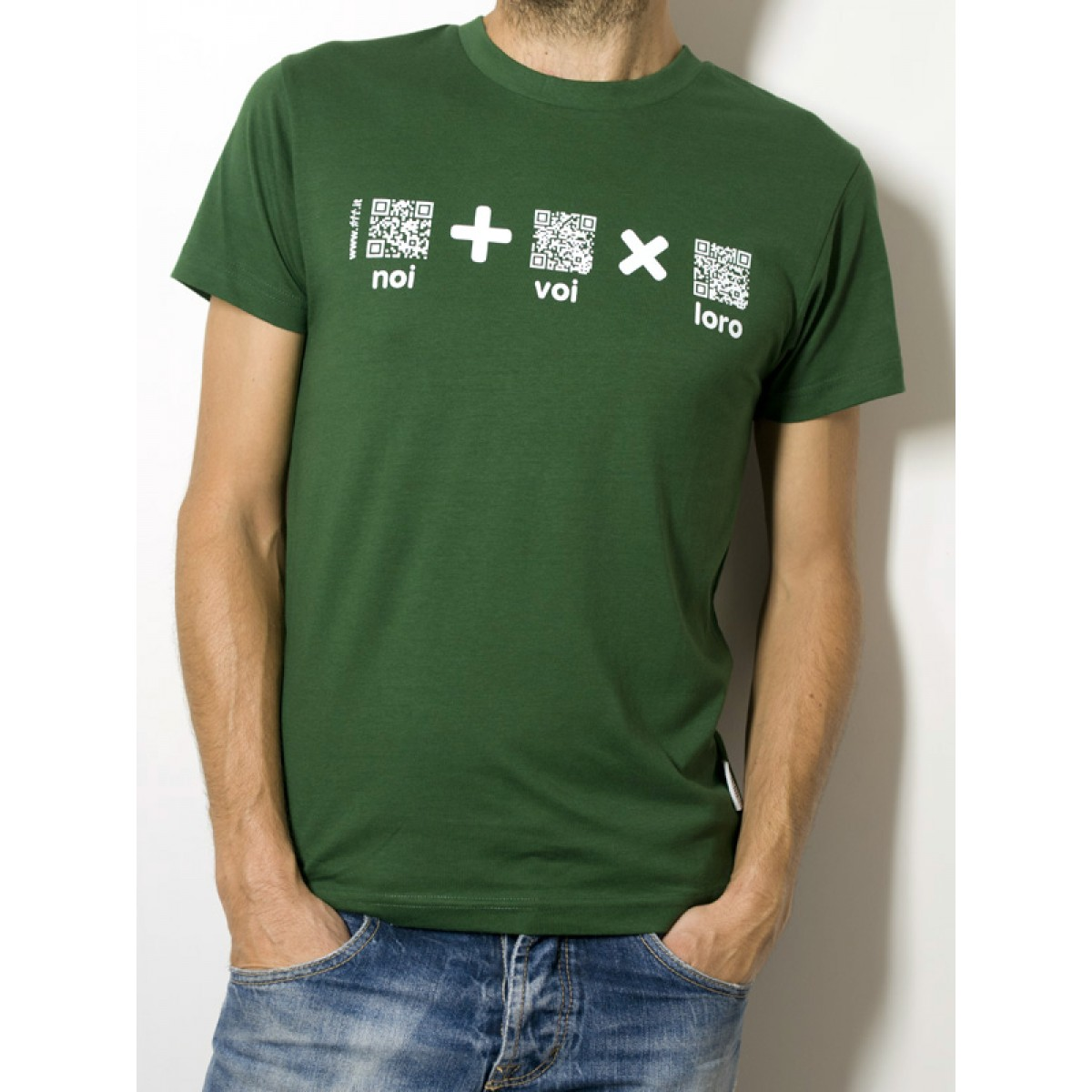 "T-Shirt ""AIL Code"" Unisex BIO - Colore Verde - Stampa Bianca"