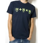 T-Shirt AIL Code Unisex BIO - Colore Navy Blue - Stampa Verde