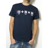 "T-Shirt ""AIL Code"" Unisex BIO - Colore Navy Blue - Stampa Bianca"